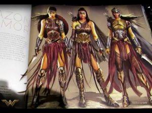 Grafiki Koncepcyjne Wonder Woman.